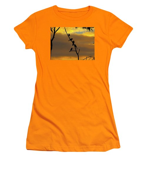 Women's T-Shirt (Athletic Fit) featuring the photograph Birdstop by Mark Blauhoefer