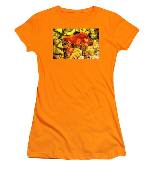 Bison Women's T-Shirt (Junior Cut) by Anton Kalinichev