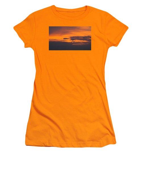 Black Cloud Sunset  Women's T-Shirt (Junior Cut) by Don Koester