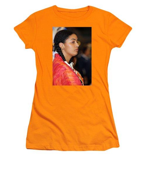 Black Native Women's T-Shirt (Junior Cut) by Audrey Robillard