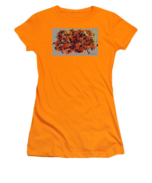 Black Walnut Ink Abstract With Splats Women's T-Shirt (Athletic Fit)