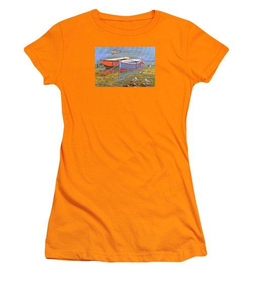 Blue And Orange Women's T-Shirt (Junior Cut) by Bill Holkham
