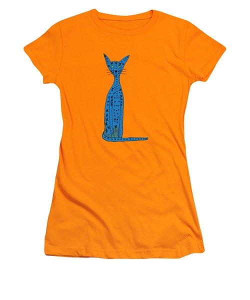 Blue Cat Women's T-Shirt (Athletic Fit)