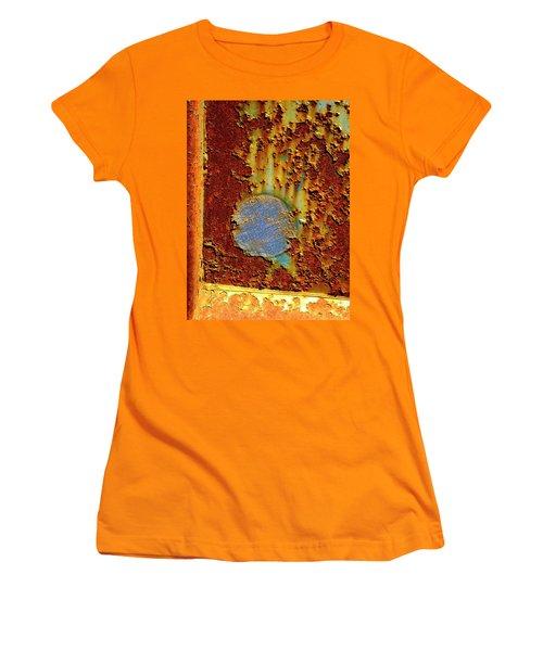 Blue Dot Metal Women's T-Shirt (Junior Cut) by Jerry Sodorff
