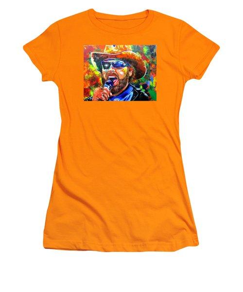 Bocephus Women's T-Shirt (Junior Cut) by Ken Pridgeon