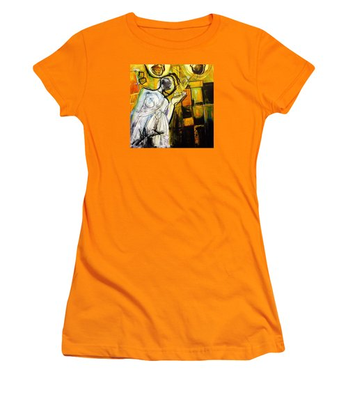 Women's T-Shirt (Junior Cut) featuring the painting Breakfast On Park Road II by Helen Syron