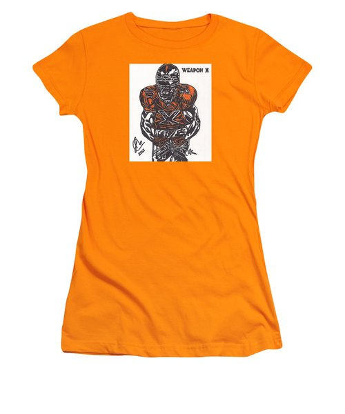 Women's T-Shirt (Junior Cut) featuring the drawing Brian Dawkins by Jeremiah Colley