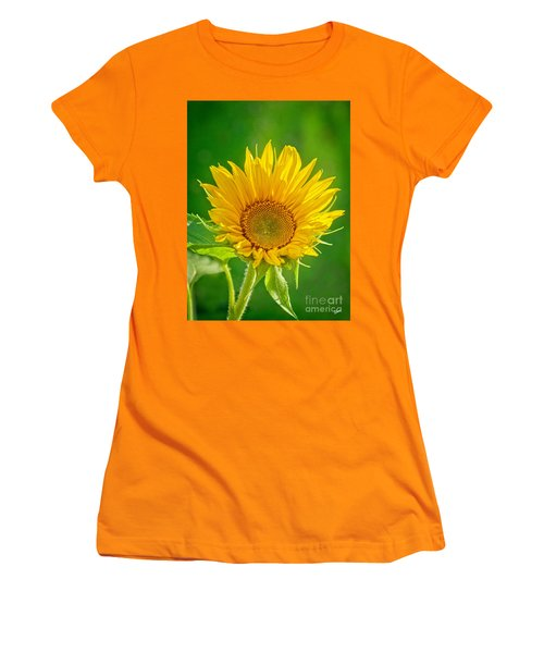 Bright Yellow Sunflower Women's T-Shirt (Athletic Fit)