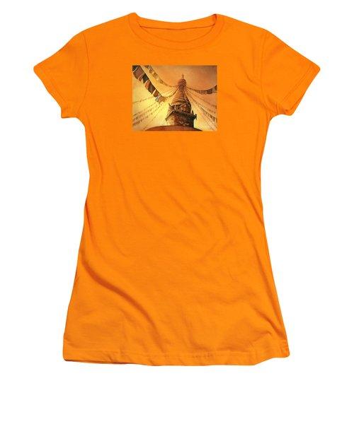 Buddhist Stupa- Nepal Women's T-Shirt (Athletic Fit)