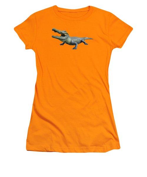 Bull Gator Transparent For T Shirts Women's T-Shirt (Junior Cut) by D Hackett