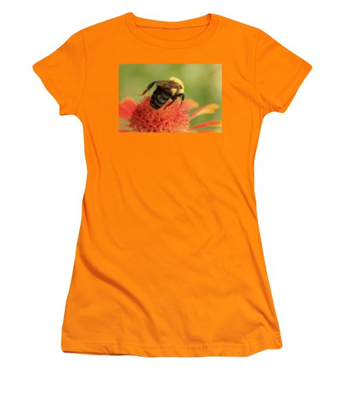 Women's T-Shirt (Junior Cut) featuring the photograph Bumblebee by Chris Berry