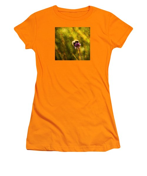 Women's T-Shirt (Junior Cut) featuring the photograph Bumblebee  by Rose-Maries Pictures