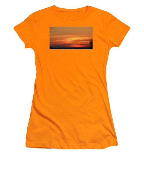 Burning Sunset Women's T-Shirt (Athletic Fit)