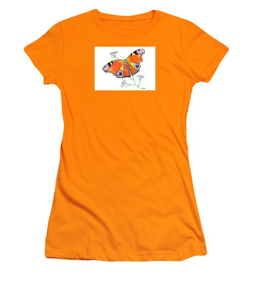 Butterfly Dressed For A Masquerade Ball Women's T-Shirt (Athletic Fit)