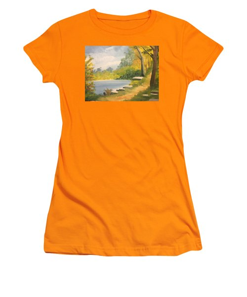 By The Lake Women's T-Shirt (Athletic Fit)