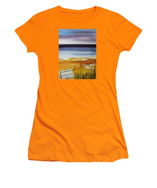 Cabana Rental Women's T-Shirt (Junior Cut) by Jack G  Brauer