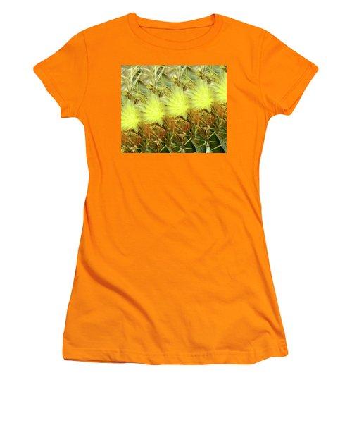 Women's T-Shirt (Junior Cut) featuring the photograph Cactus Flowers by Kathy Bassett