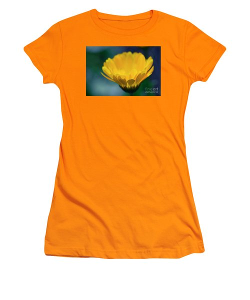 Women's T-Shirt (Junior Cut) featuring the photograph Calendula by Sharon Mau