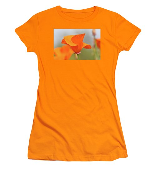 California State Poppy Macro Women's T-Shirt (Athletic Fit)
