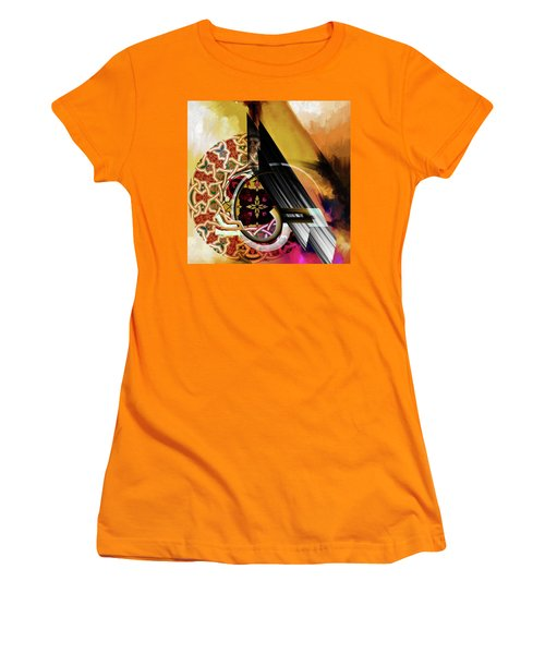 Women's T-Shirt (Junior Cut) featuring the painting Calligraphy 103 1 1 by Mawra Tahreem