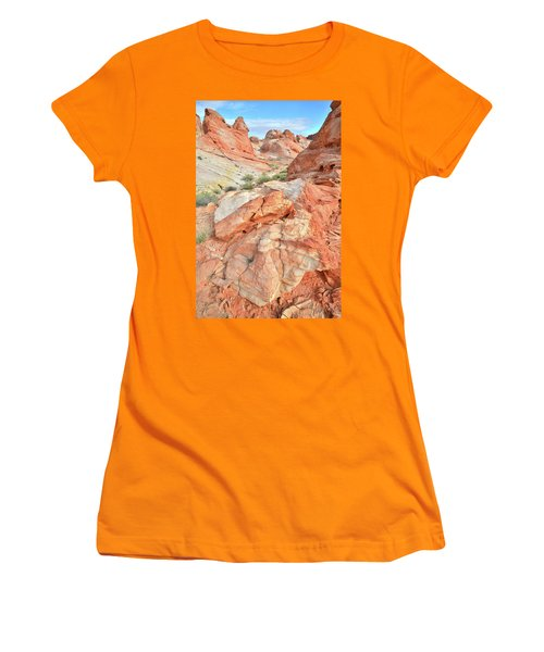Canyon Color In Valley Of Fire Women's T-Shirt (Junior Cut) by Ray Mathis