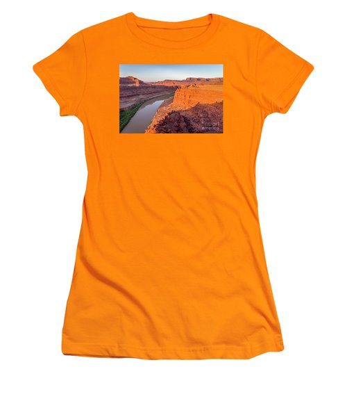 Canyon Of Colorado River - Sunrise Aerial View Women's T-Shirt (Athletic Fit)