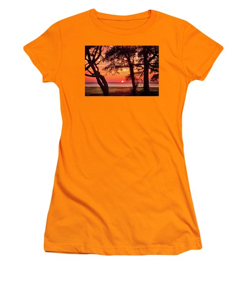 Women's T-Shirt (Junior Cut) featuring the photograph Cape Fear Tranquility by Phil Mancuso