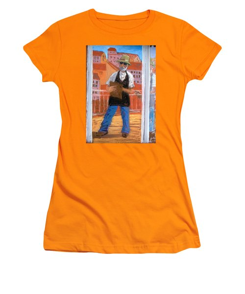 Women's T-Shirt (Junior Cut) featuring the painting Captured In Antibes by Gary Coleman