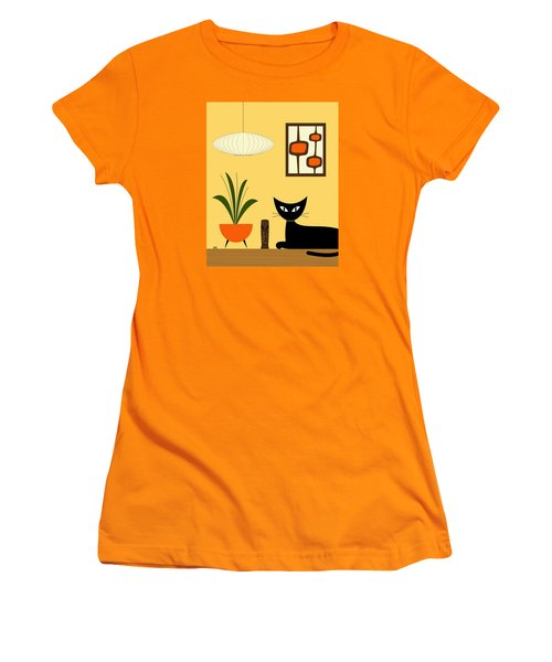 Cat On Tabletop With Mini Mod Pods 3 Women's T-Shirt (Athletic Fit)