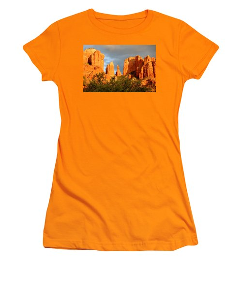 Cathedral Formation Women's T-Shirt (Junior Cut) by Ellen Heaverlo