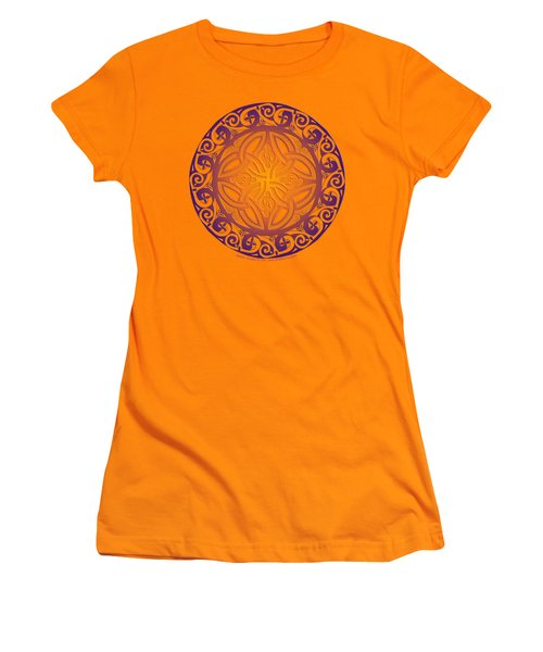 Celtic Shield Women's T-Shirt (Junior Cut) by Kristen Fox
