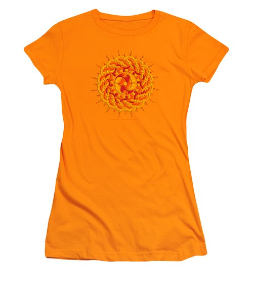 Celtic Sun Women's T-Shirt (Junior Cut) by Kristen Fox