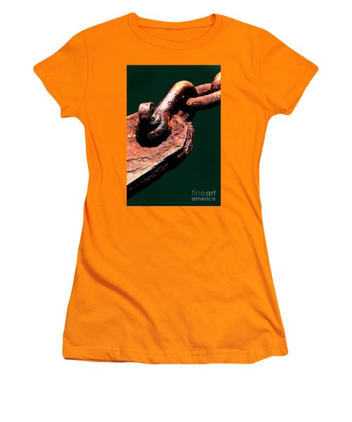 Women's T-Shirt (Athletic Fit) featuring the photograph Chain Age II by Stephen Mitchell