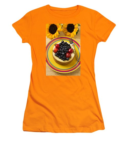 Cheesecake With Fruit Women's T-Shirt (Junior Cut) by Garry Gay