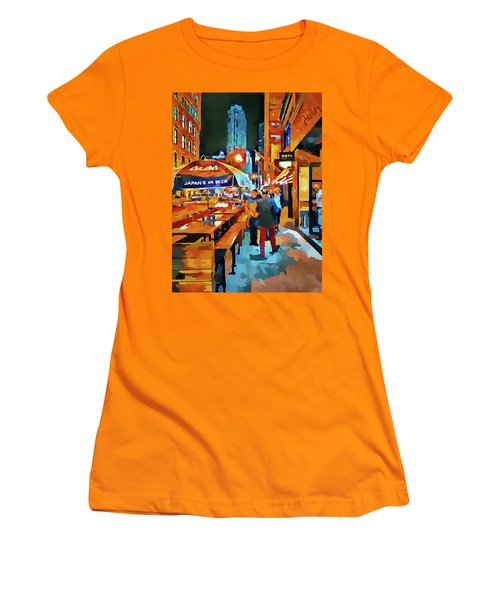 Chicago Night Time Women's T-Shirt (Athletic Fit)