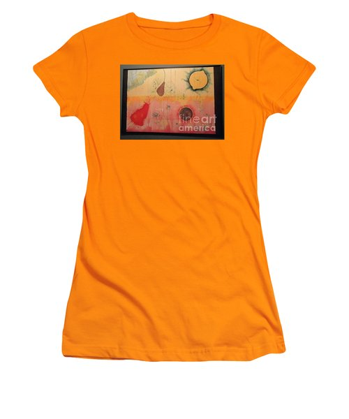 Women's T-Shirt (Junior Cut) featuring the painting Choking by Xn Tyler