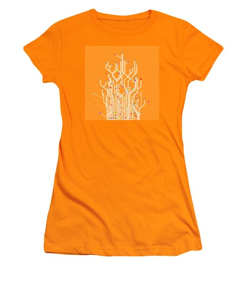 Circuit Board Graphic Women's T-Shirt (Athletic Fit)