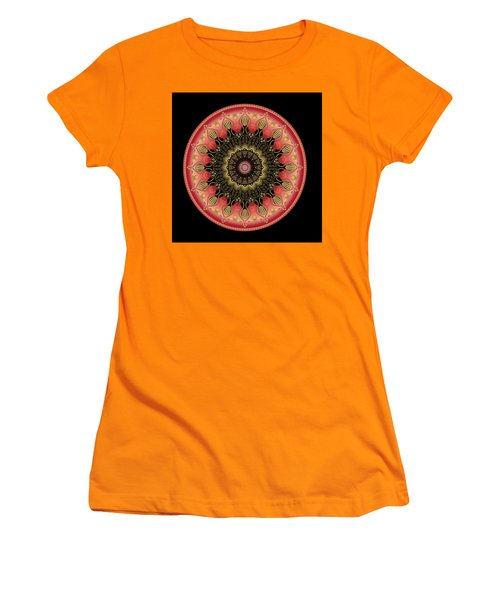 Women's T-Shirt (Junior Cut) featuring the digital art Circularium No 2659 by Alan Bennington