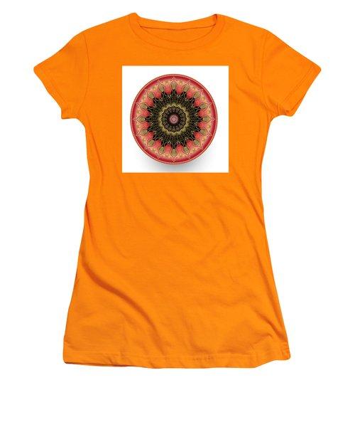 Women's T-Shirt (Junior Cut) featuring the digital art Circularium No 2660 by Alan Bennington