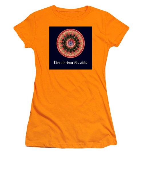 Women's T-Shirt (Junior Cut) featuring the digital art Circularium No 2662 by Alan Bennington