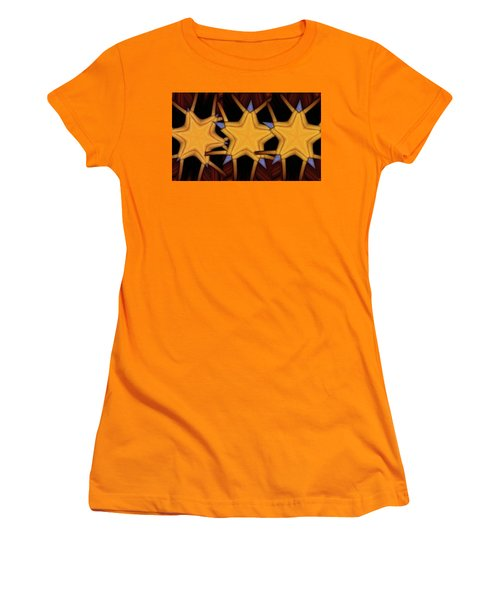 Women's T-Shirt (Junior Cut) featuring the digital art Clawed Stars  by Ron Bissett