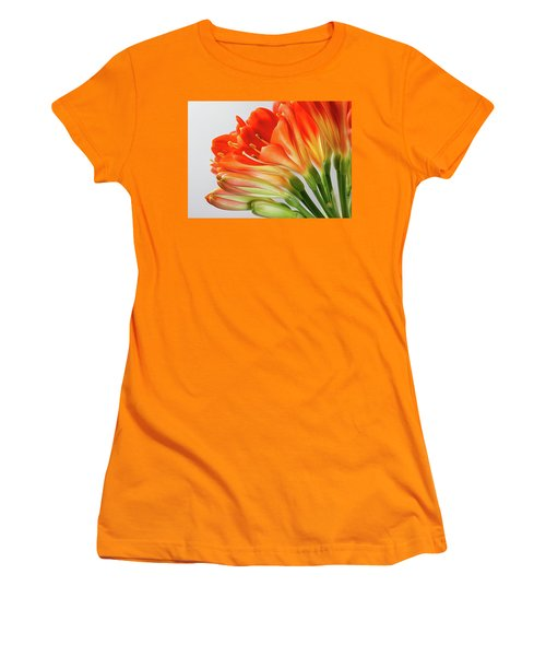 Clivia Miniata 2 Women's T-Shirt (Junior Cut) by Shirley Mitchell