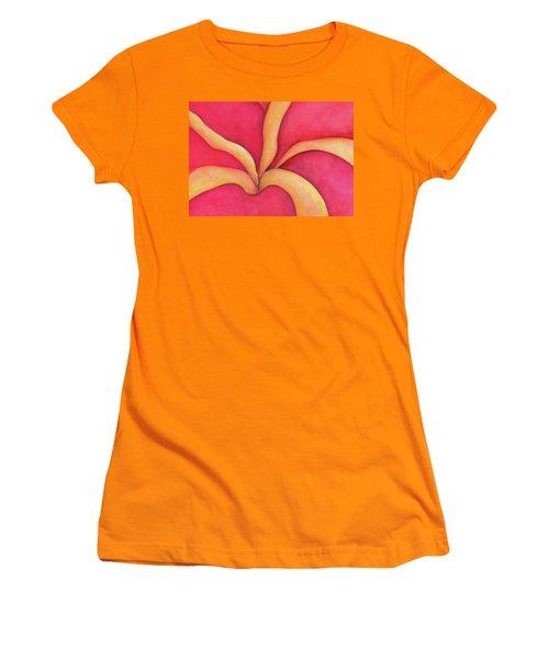 Closeup Of Red Rose Women's T-Shirt (Junior Cut) by Versel Reid