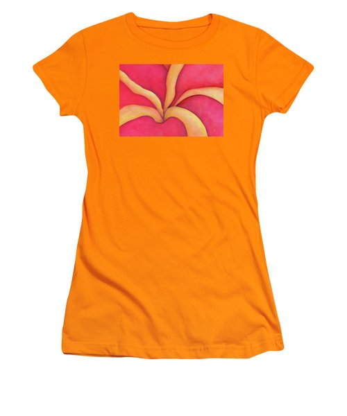 Closeup Of Red Rose Women's T-Shirt (Athletic Fit)