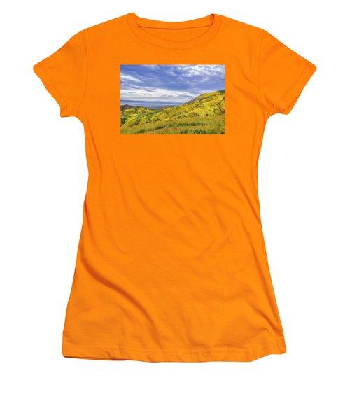 Women's T-Shirt (Junior Cut) featuring the photograph Clouds Above Temblor Range by Marc Crumpler