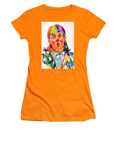 Clown Series Oh No  Women's T-Shirt (Junior Cut) by Betty M M Wong