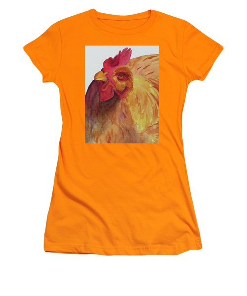 Women's T-Shirt (Junior Cut) featuring the painting Cogburn by Judy Mercer