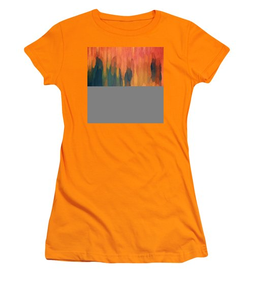 Color Abstraction L Sq Women's T-Shirt (Junior Cut) by David Gordon