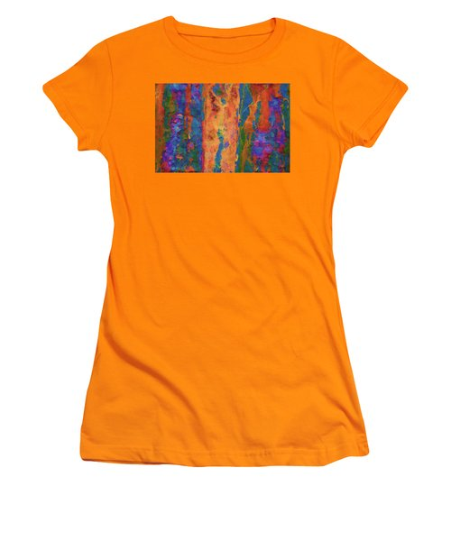 Women's T-Shirt (Junior Cut) featuring the photograph Color Abstraction Lxvi by David Gordon