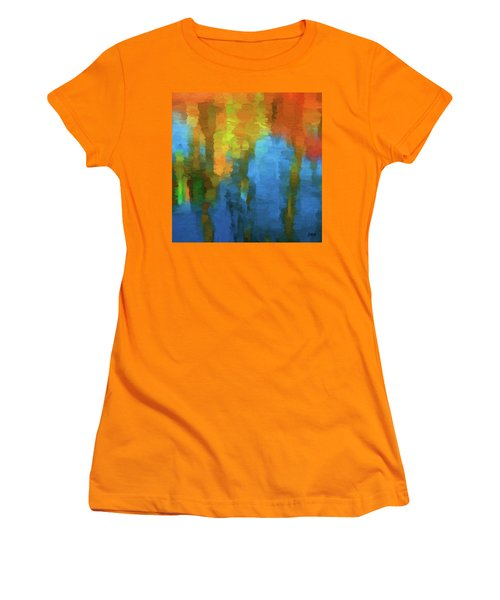 Color Abstraction Xxxi Women's T-Shirt (Junior Cut) by David Gordon